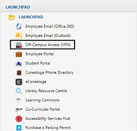 Select Off-Campus Access (VPN)