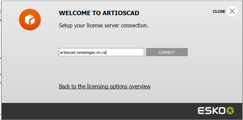 ArtiosCAD license server