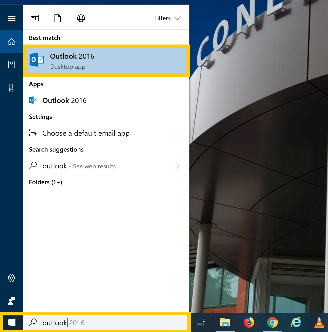 Start menu on windows 10