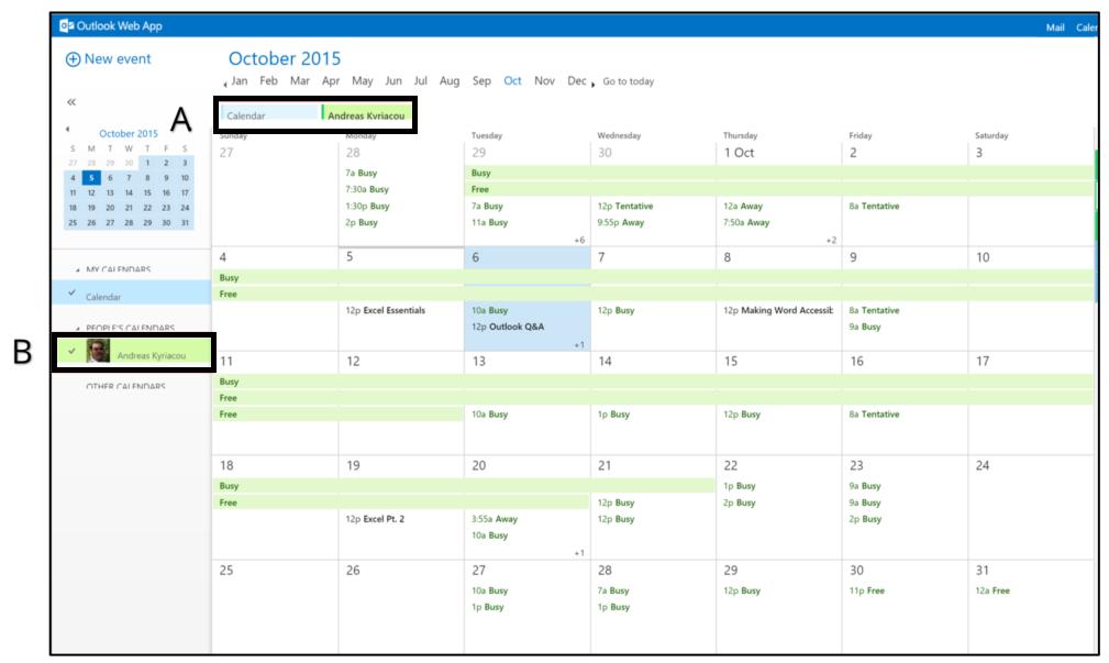 merged calendar views
