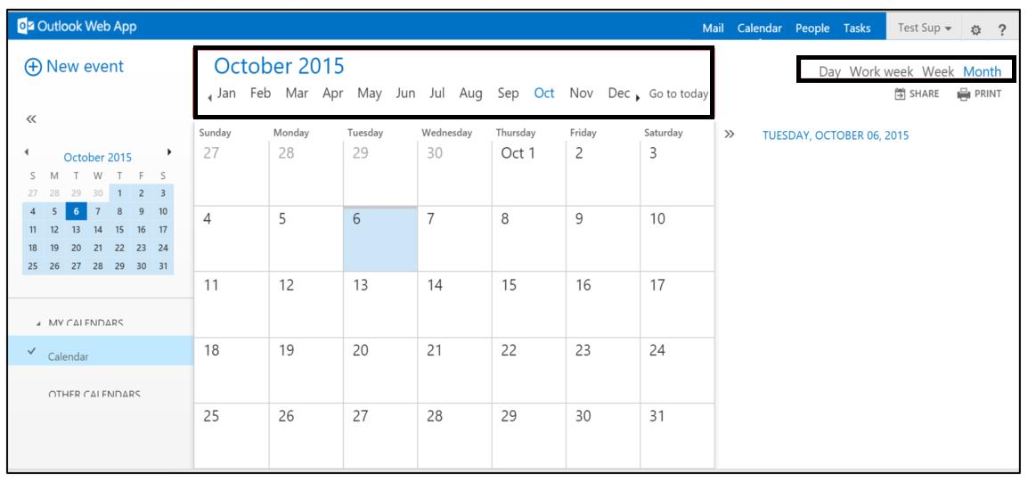 quick jump calendar