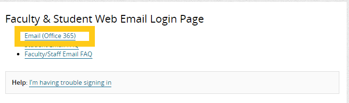 Student email (O365)