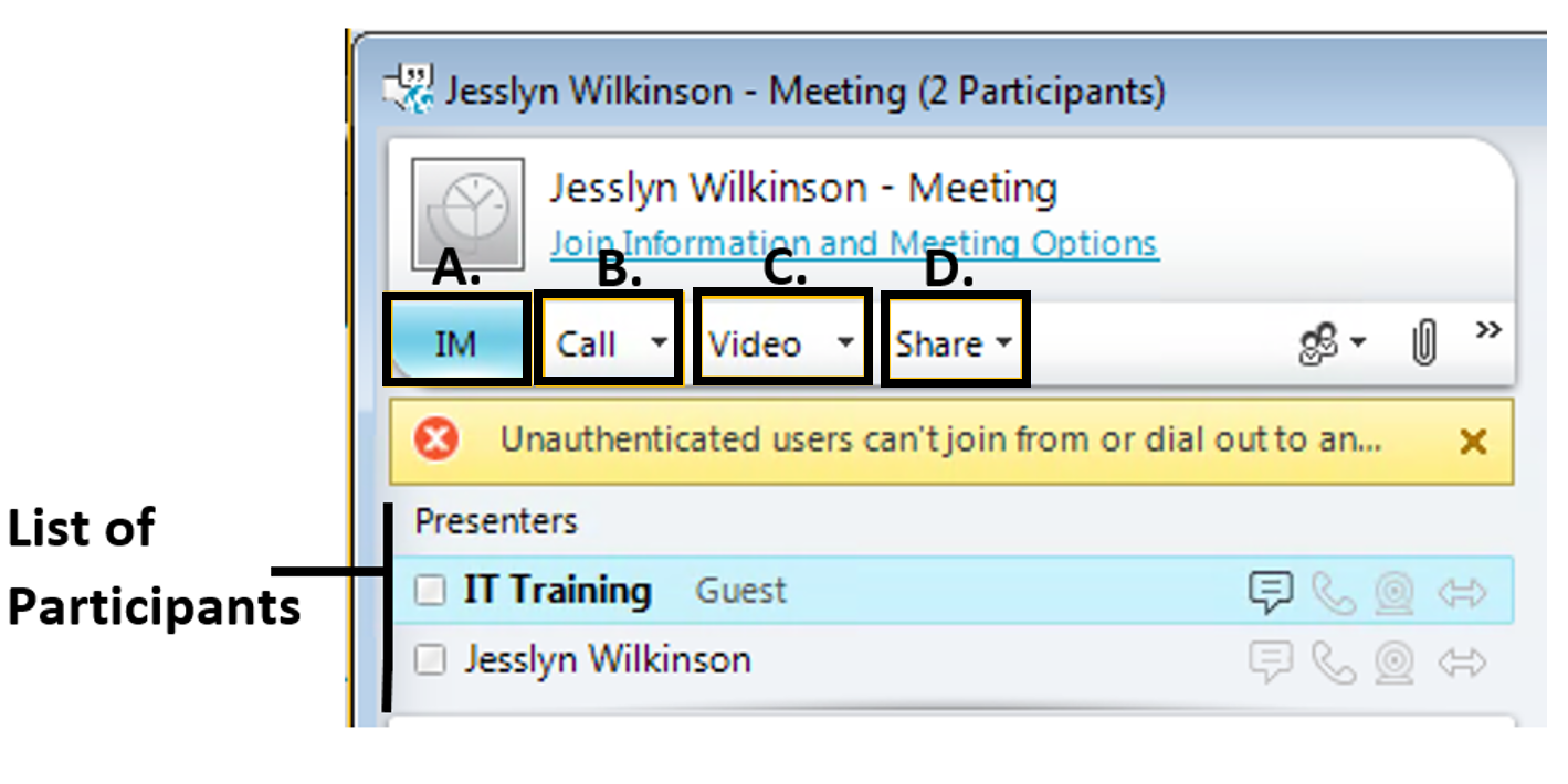 lync online meeting attendee list I would think that the best way to achieve this is to create a list if you could bcc the meeting invites it would work great, but outlook doesn't.
