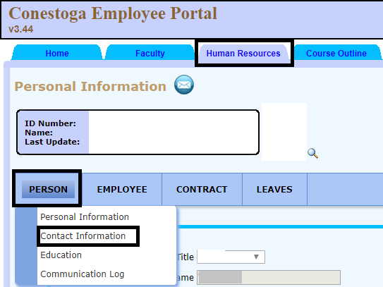 username in employee portal